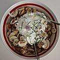 salade de champignons de Dame Vanille