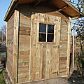 Construction des nouvelles cabanes des jardins familiaux d'ermont