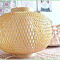 rotin bambou lampe