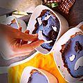 Tartelette tout coco et un peu choco {battle food # 19} (sans lactose, sans gluten)