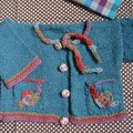 Gilet escargot en alpaga bleu ptrole, laine et modle La Droguerie