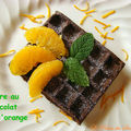 Gaufre au chocolat et à l'orange