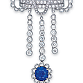 An important sapphire and diamond brooch