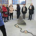 Visite guidée de l'exposition de julien laforge et visite de l'atelier d'anna buno, artiste en résidence