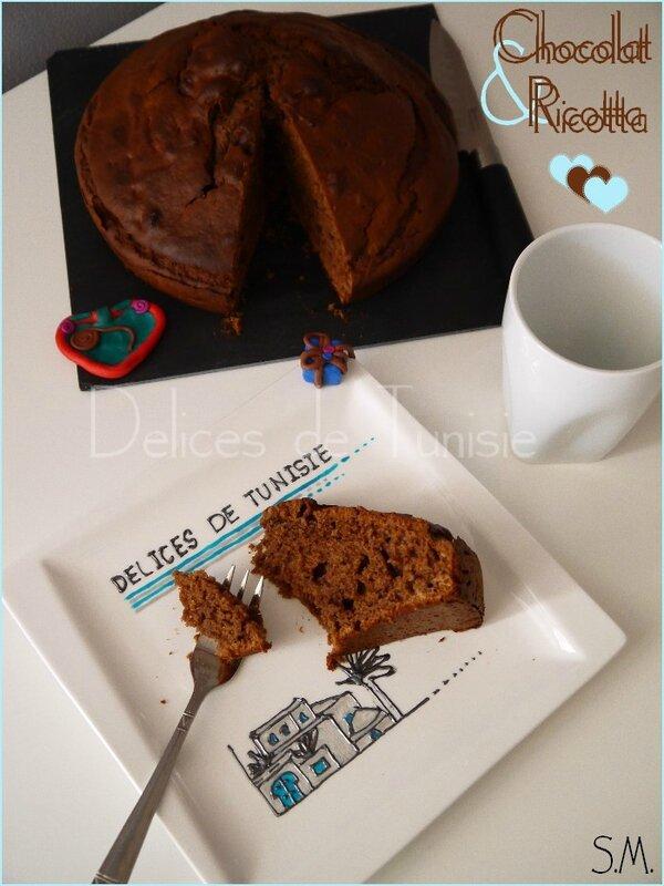 gâteau chocolat et ricotta 1