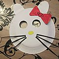 Masque hello kitty