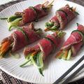 Tataki de boeuf aux légumes croquants