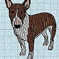 Broderie machine : bull terrier