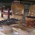 fauteuil africain et jeu d'awalé