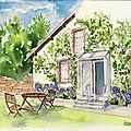 Maison aux hortensias