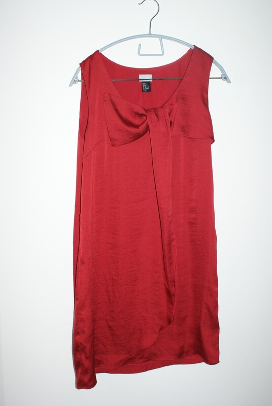 robe bordeaux noeud