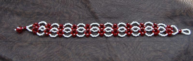 Bracelet rouge et blanc