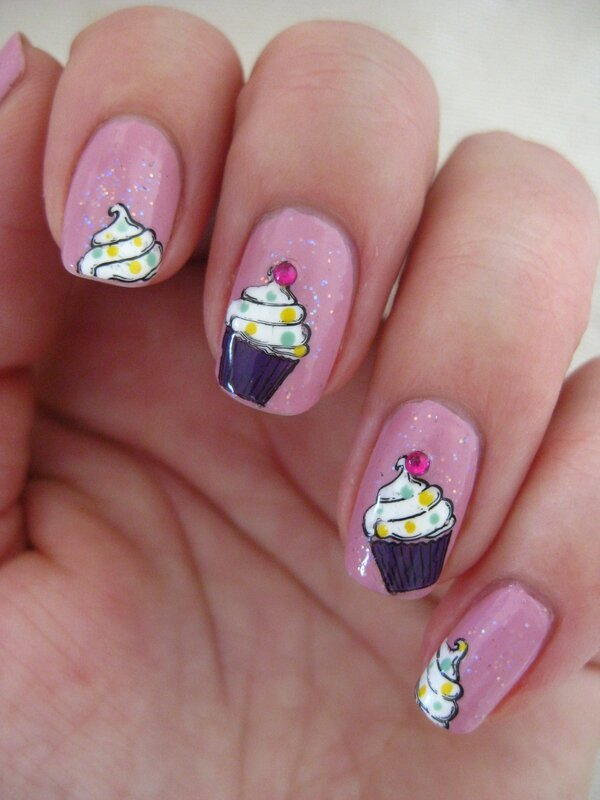 20150115 manucure cupcake au stamping (30)