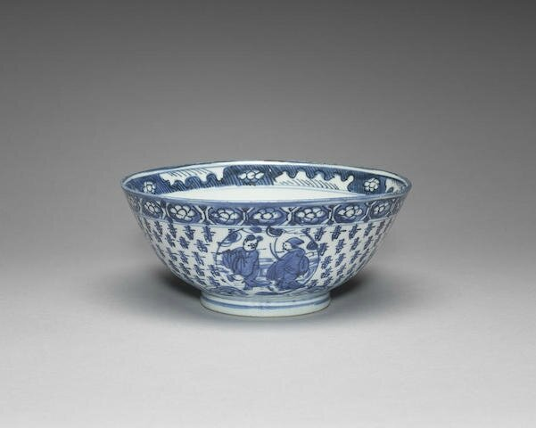 A blue and white bowl, 16th-17th century