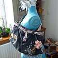 Sac jean ceinture dentelle ancienne
