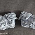 chaussons bleu c