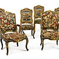 A suite of italian rococo green-painted and parcel-gilt chairs, mid-18th century