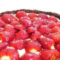Tarte aux fraises  ma faon