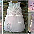 Un peu de couture, pour changer, une gigoteuse, toute rose, pour une demoiselle...