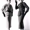 Cristóbal Balenciaga, deux ensembles d'après midi en dentelle de laine, 1952