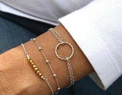 bracelets argent massif