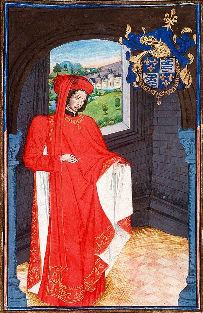 Charles d'Orléans robe rouge - 1