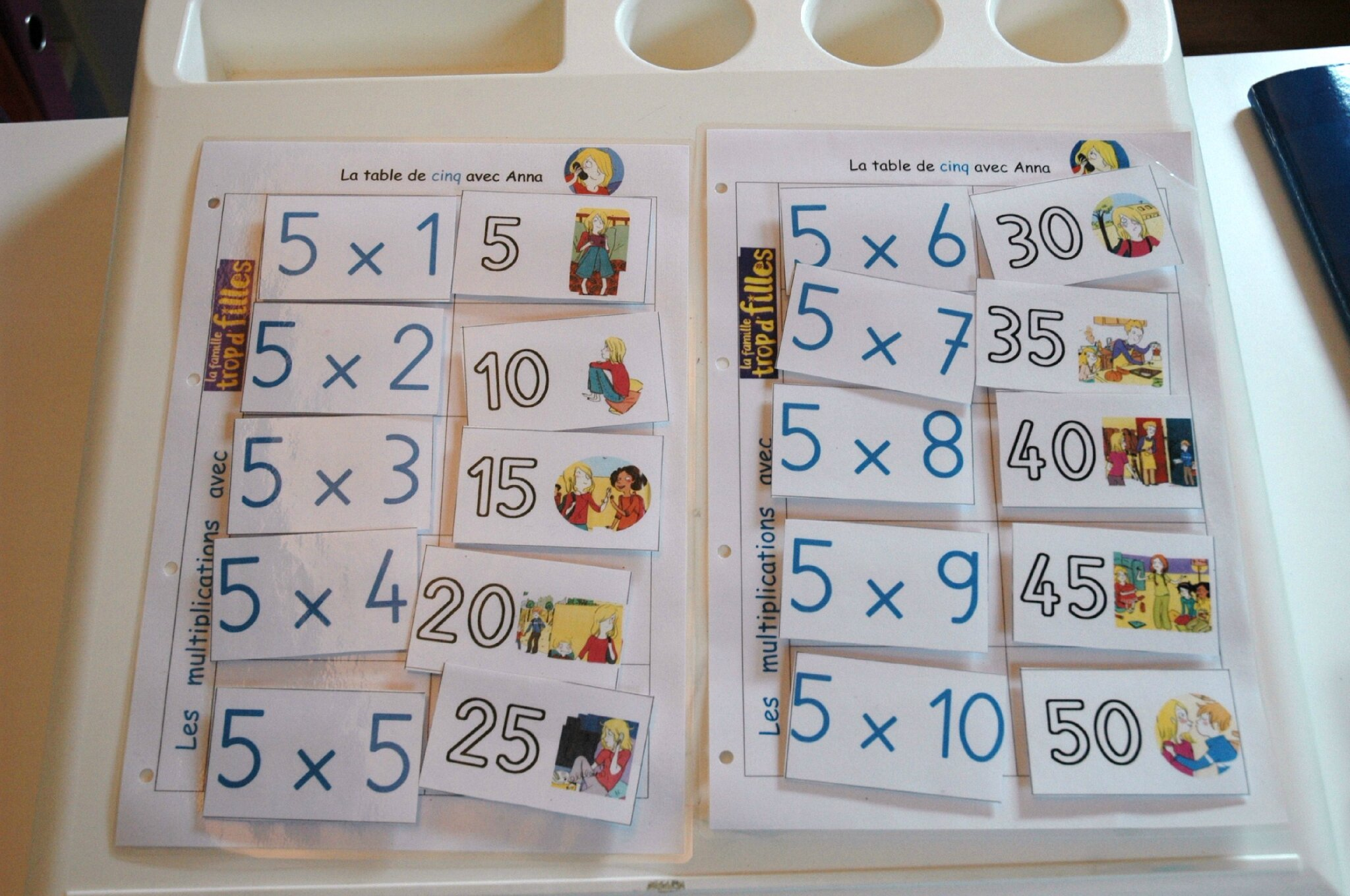 M morisation des tables de multiplication autisme for La table de 8