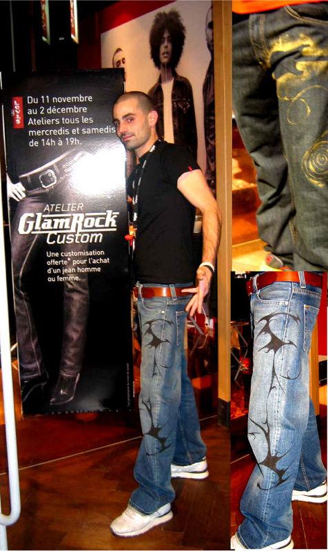 Levi's Atelier custo glam rock