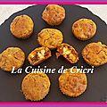 Minis muffins salés camembert & tomates séchées