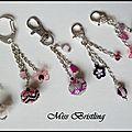 bijoux de sac rose