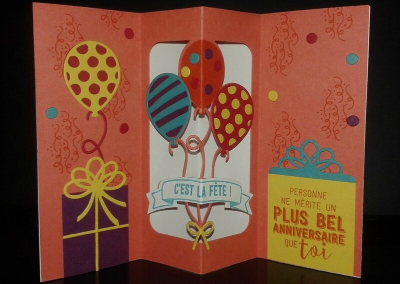 carte pop up anniversaire
