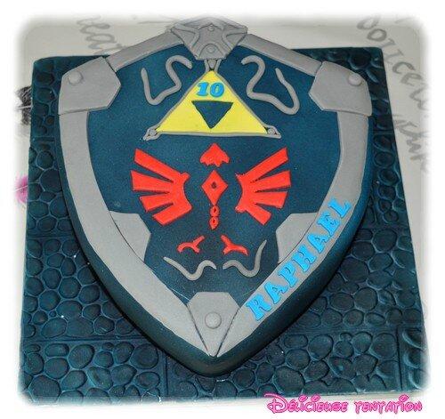 Gâteau bouclier Zelda