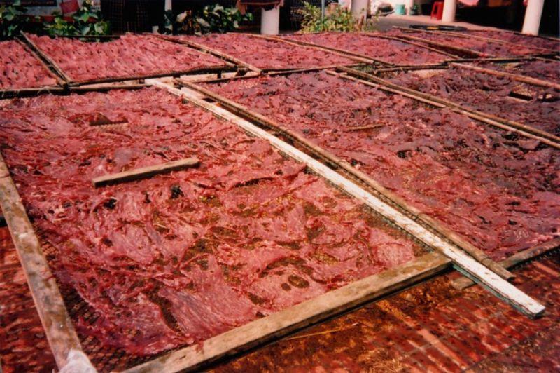 Viande en train de sécher