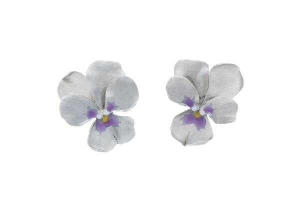 JAR. A Pair of Titanium 'Violet' Earclips