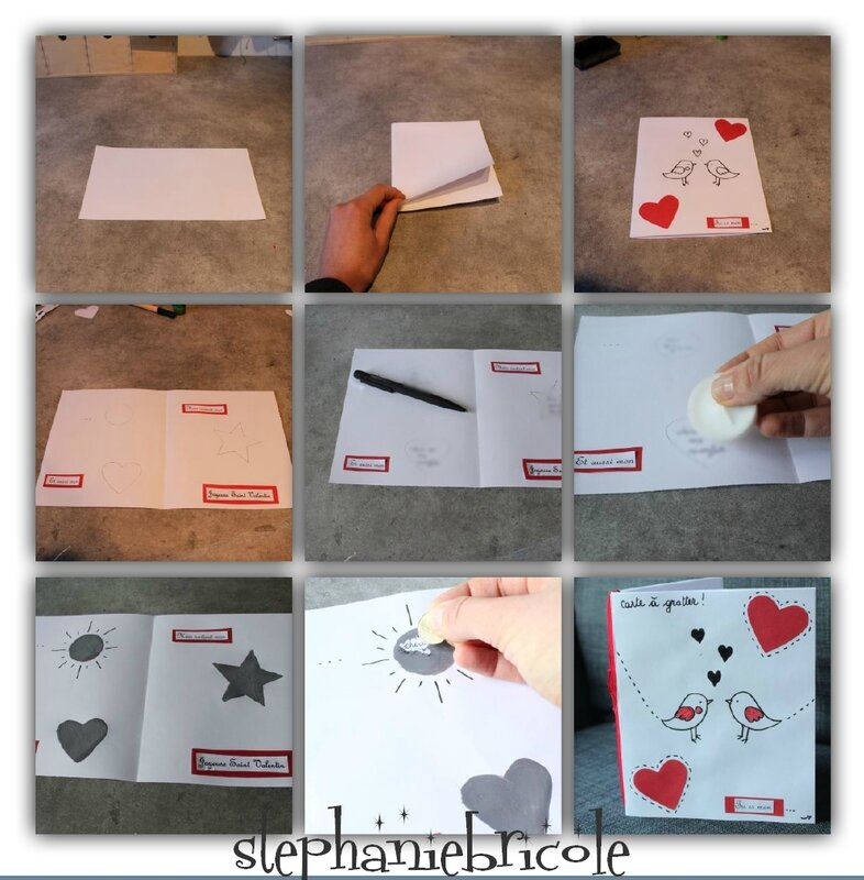 diy une carte gratter pour la saint valentin st phanie bricole. Black Bedroom Furniture Sets. Home Design Ideas