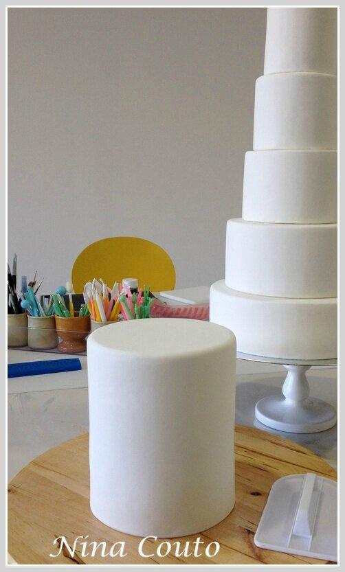 Wedding cake nina couto preparation