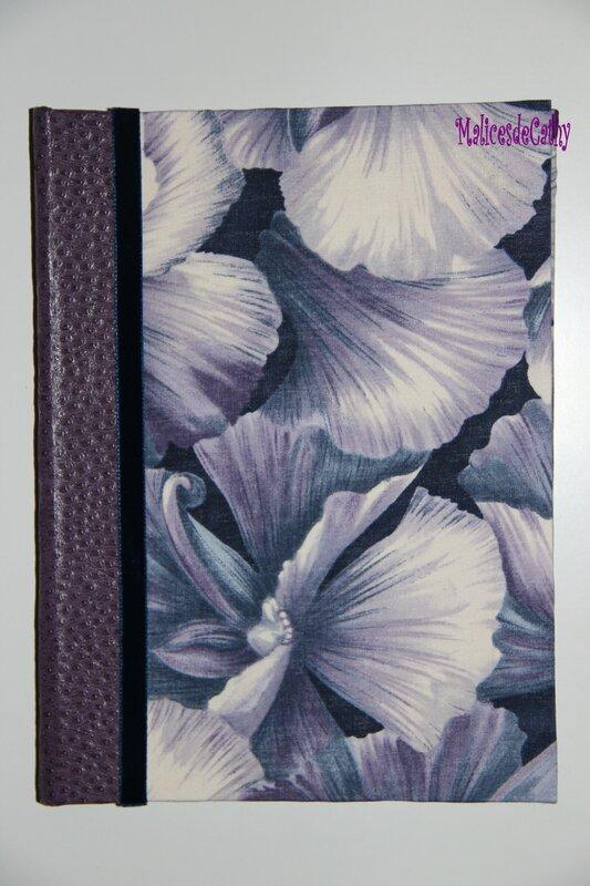 bloc note pétales violet