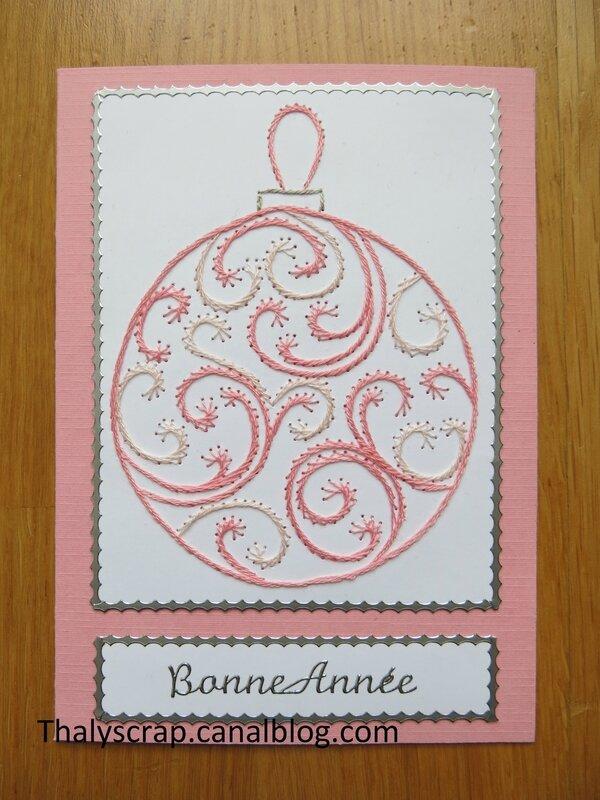 Boule de Noël rose - 02 b