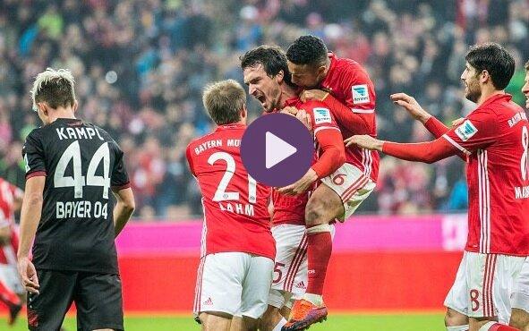 Les buts Bayern Munich vs Bayer Leverkusen résumé vidéo (2-1)