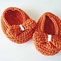 Chaussons pour bb au crochet