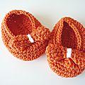Chaussons pour bébé au crochet