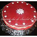 Bavarois duo de chocolat blanc et noir et son miroir a la fraise
