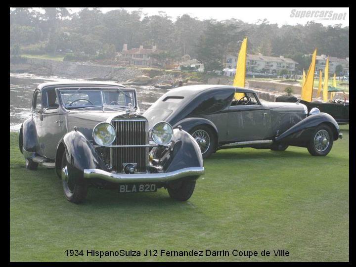 1934 - Hispano Suiza J12 Fernandez Darrin Coupe de Ville.