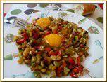 0229 - oeufs au plat ratatouille à la plancha