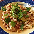 Macaroni aux herbes des battures, salicorne et persil de mer