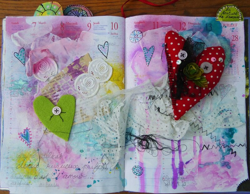 art journal love to love texture 1