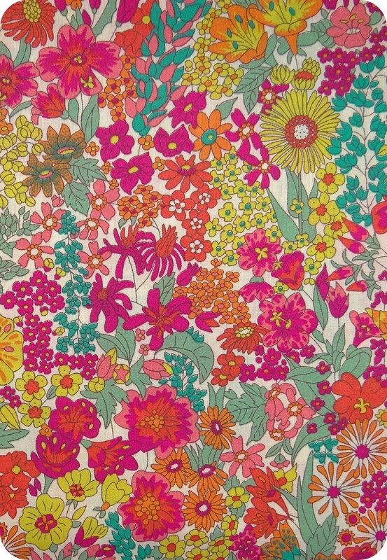 Tissu Liberty multicolore Margaret Annie