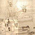 dessin du pere de famille lors de son service militaire