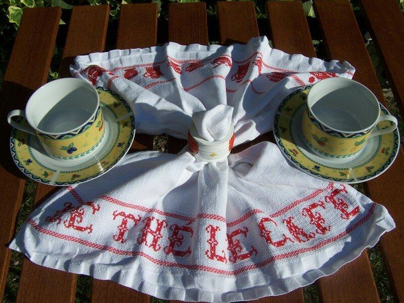 Torchon thé ou café.