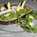 aubergine polenta epinards
